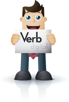 Man Holding Verb Digital Logo